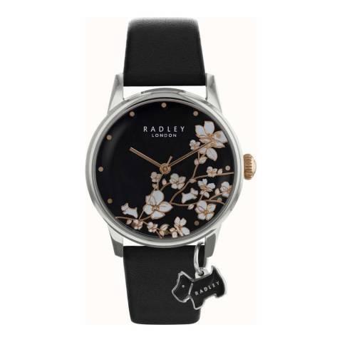 Radley Black Leather Strap Watch