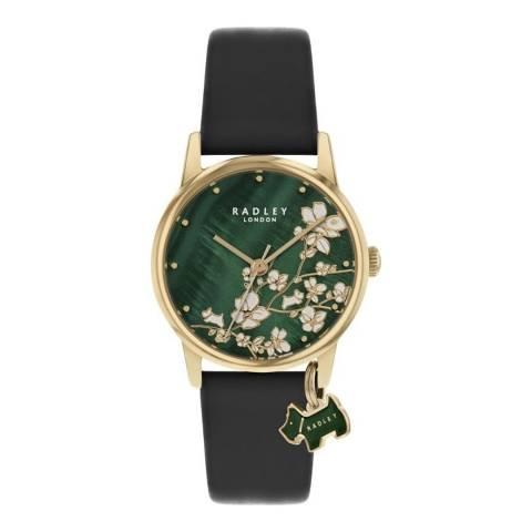 Radley Black Botanical Leather Watch