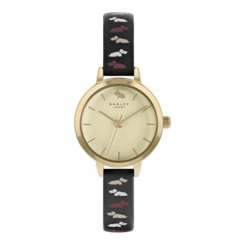 Radley Oxblood Radley Dog Leather Strap Watch