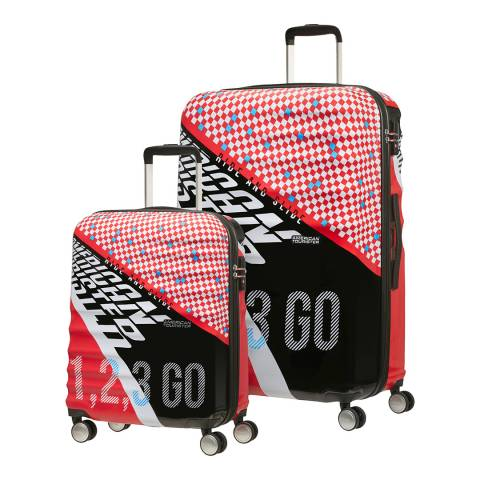 American Tourister Red Wavebreaker 2 Piece Set