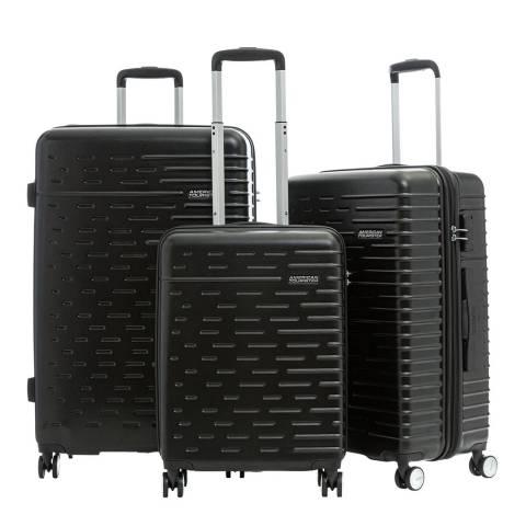 American Tourister Jet Black Hyperdash 3 Piece Set