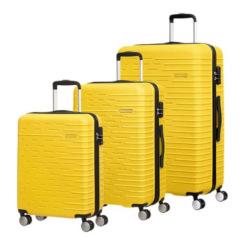 American Tourister Sunset Yellow Hyperdash 3 Piece Set