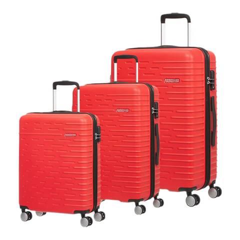 American Tourister Vivid Red Hyperdash 3 Piece Set