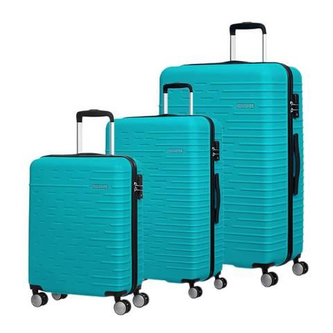 American Tourister Aqua Turquoise Hyperdash 3 Piece Set