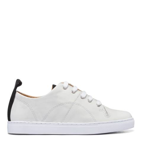 H by Hudson White/Black Suede Sierra 2 Trainers