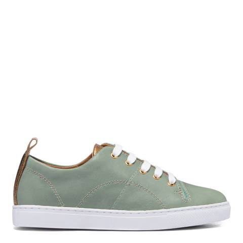 H by Hudson Mint Leather Sierra 2 Trainers