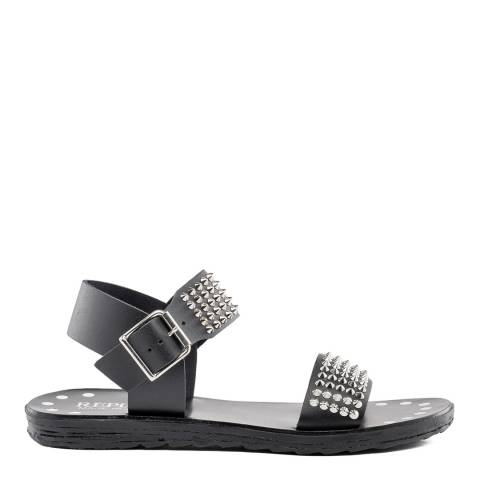 Replay Black Meade Leather Sandals