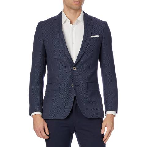 BOSS Dark Blue Hutsons4 Wool Blazer
