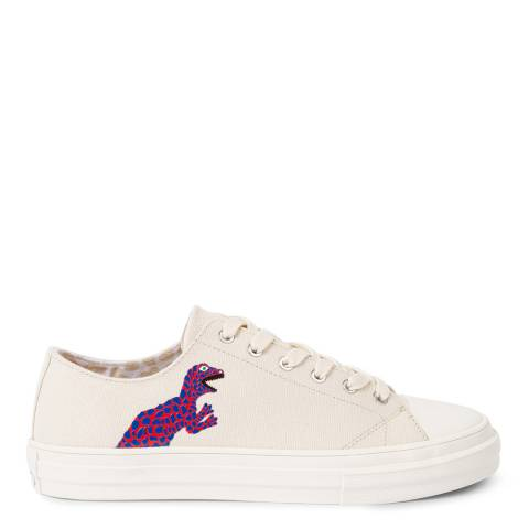 PAUL SMITH Off White Kinsey Dino Print Sneaker