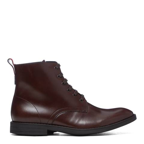 PAUL SMITH Dark Brown Hamilton Lace Up Boots