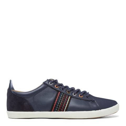 PAUL SMITH Black Leather Stripe Trainers