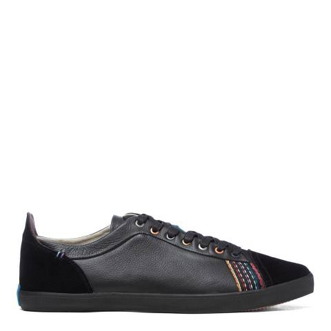 PAUL SMITH Black Suede Low Top Trainers