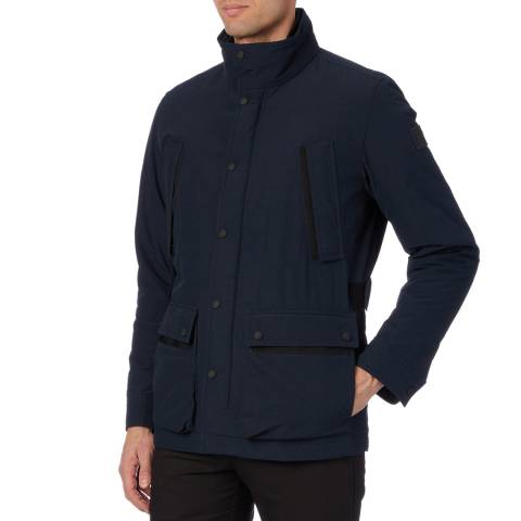 BOSS Navy Funnel Orove Coat