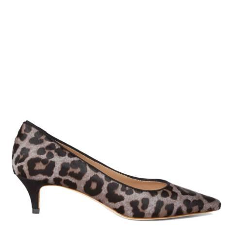 Hobbs London Grey Leopard Annie Court Heels