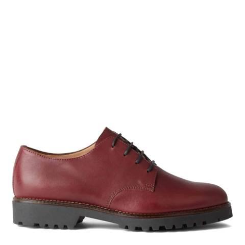 Hobbs London Burgundy Eddie Leather Derby Shoes