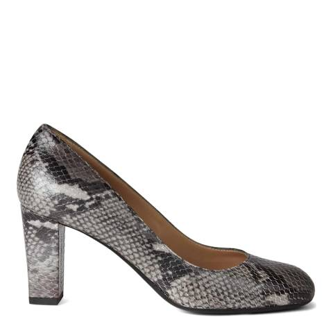 Hobbs London Grey Snake Sonia Court Heels