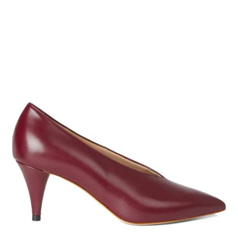 Hobbs London Burgundy Leather Poppy Court Heels