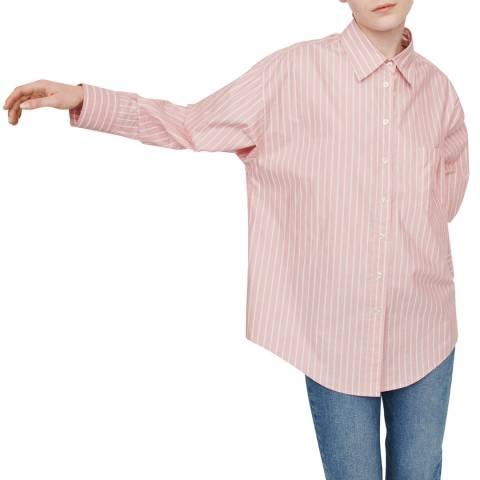 MAJE Pink Cherry Striped Shirt