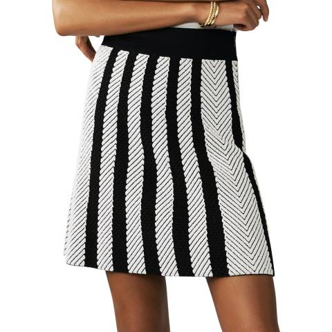 MAJE Multi Knitted Trapeze Skirt
