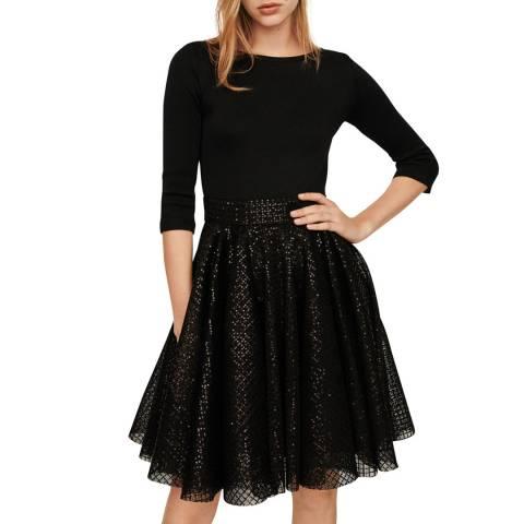 MAJE Black Romy Mini Dress