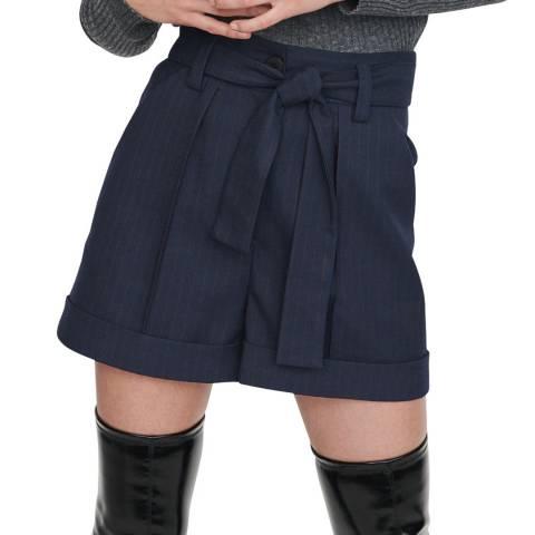 MAJE Navy Idaia Mini Shorts