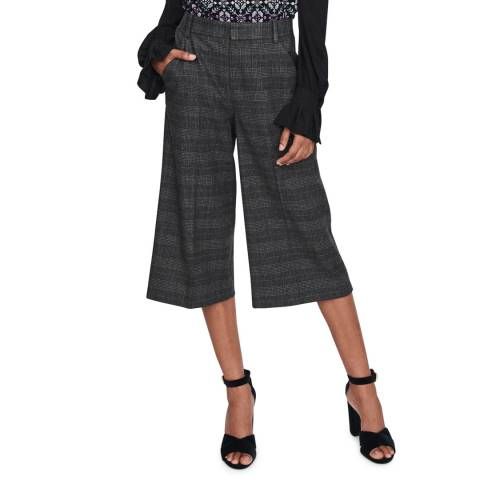 MAJE Grey Inda Wool Blend Cropped Trousers