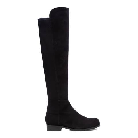Stuart Weitzman Black Suede 5050 Long Boots