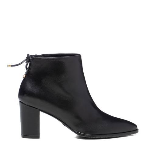 Stuart Weitzman Black Leather Gardiner Ankle Boots