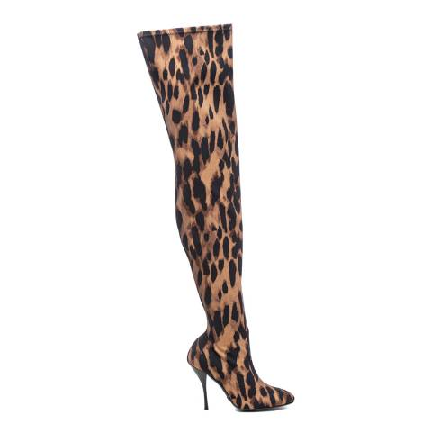 Stuart Weitzman Leopard Stretch Shiloh Over The Knee Boots