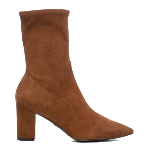 Stuart Weitzman Coffee Suede Landry 75 Ankle Boots