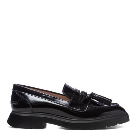 Stuart Weitzman Black Mirror Plum Loafers