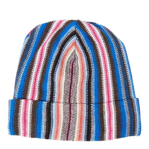 Missoni Blue Multi Stripe Beanie