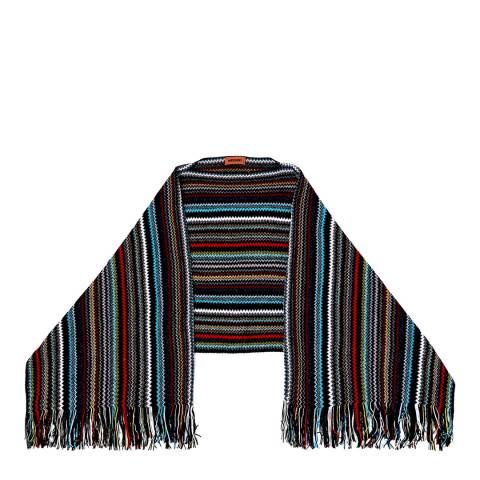 Missoni Blue Multi Stripe Poncho