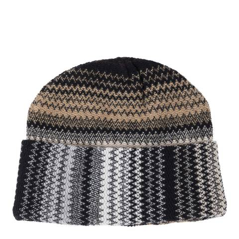 Missoni Brown Multi Zig Zag Beanie