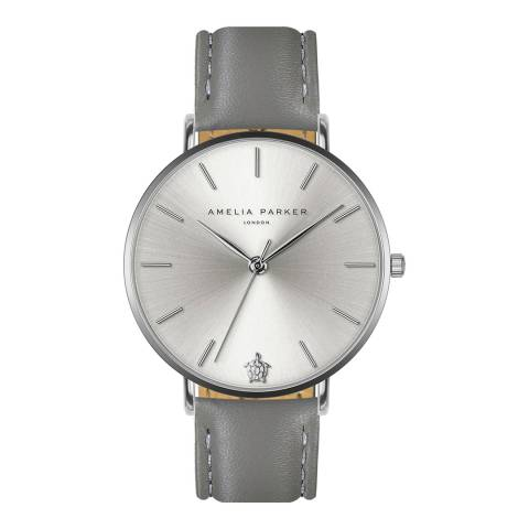 Amelia Parker Grey Capsule Leather Watch 38mm