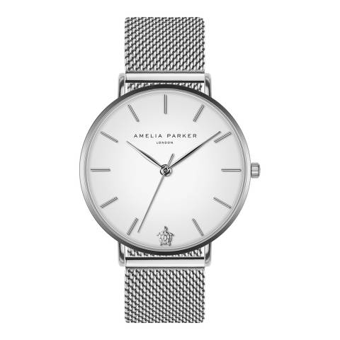 Amelia Parker Silver Pure Mesh Watch 38mm