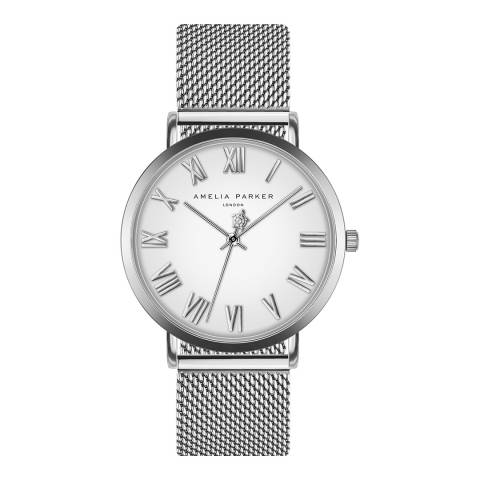 Amelia Parker Silver Grand Blanc Mesh Watch 36mm