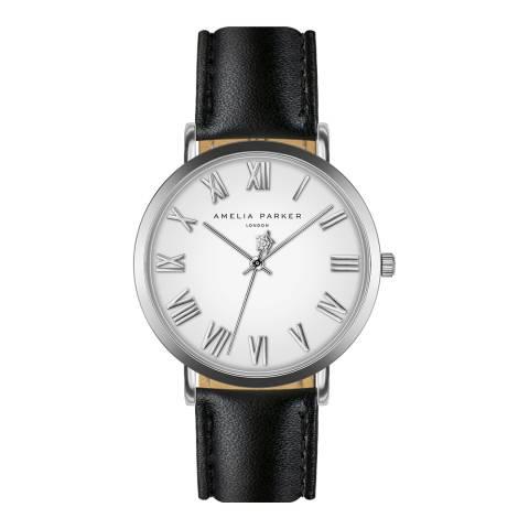 Amelia Parker Black Grand Blanc Leather Watch 36mm