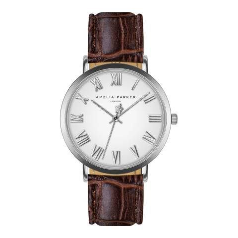 Amelia Parker Brown Grand Blanc Leather 36mm
