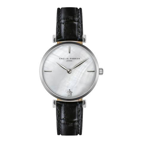 Amelia Parker Black Shore Leather Watch 32mm