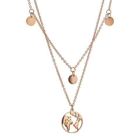 Amelia Parker Rose Gold Map Collection Necklace