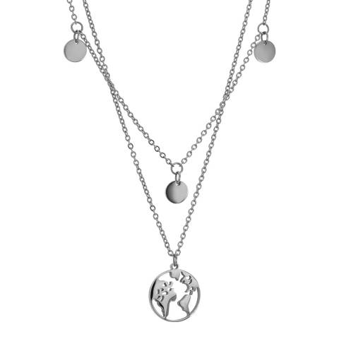 Amelia Parker Silver Map Collection Necklace