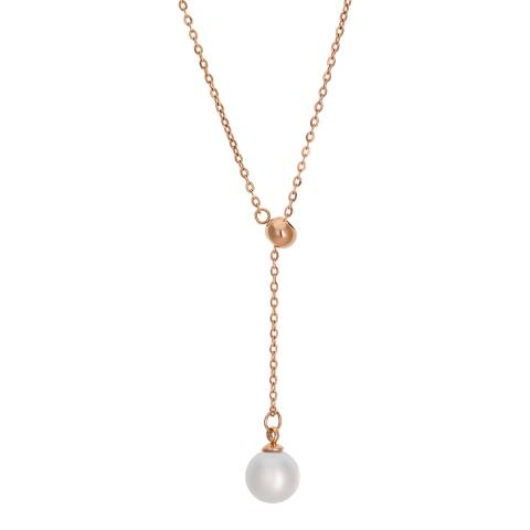 Amelia Parker Rose Gold Pearl Collection Necklace