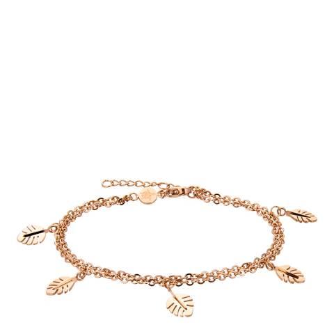 Amelia Parker Rose Gold Palm Leaves Collection Bracelet