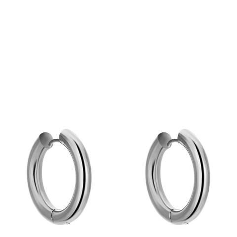 Amelia Parker Silver Simple Hoop Earrings