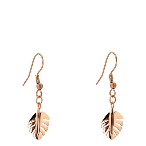 Amelia Parker Rose Gold Palm Leaves Collection Earrings