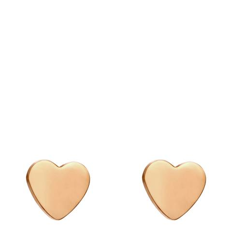 Amelia Parker Rose Gold Heart Collection Earrings