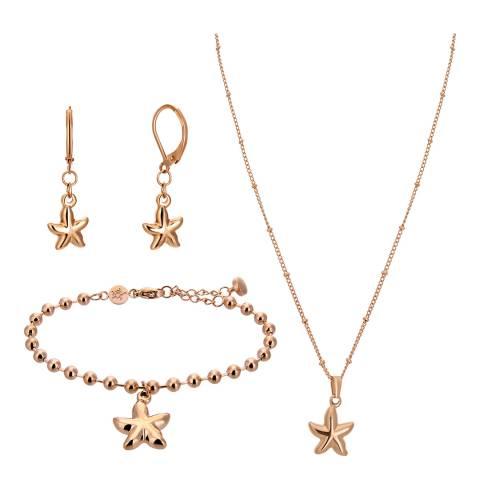 Amelia Parker Rose Gold Starfish Jewellery Set