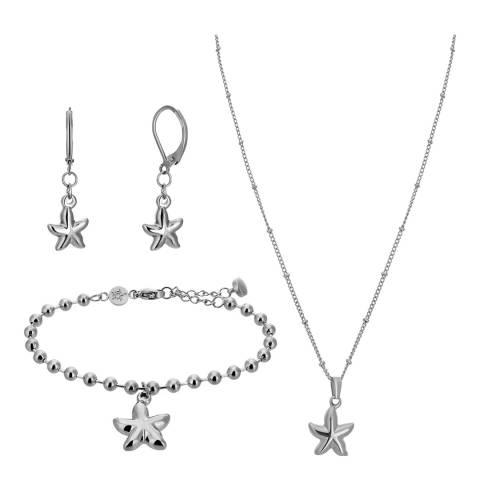 Amelia Parker Silver Starfish Jewellery Set