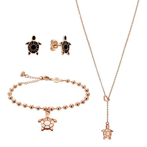 Amelia Parker Rose Gold Turtle Jewellery Set